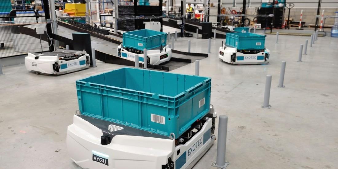 Les robots d'Exotec s'exportent aux Etats-Unis
