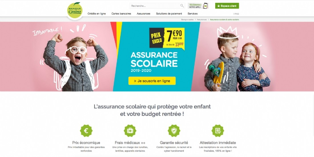 Bot, DSP2, assurance scolaire... Banque Casino innove