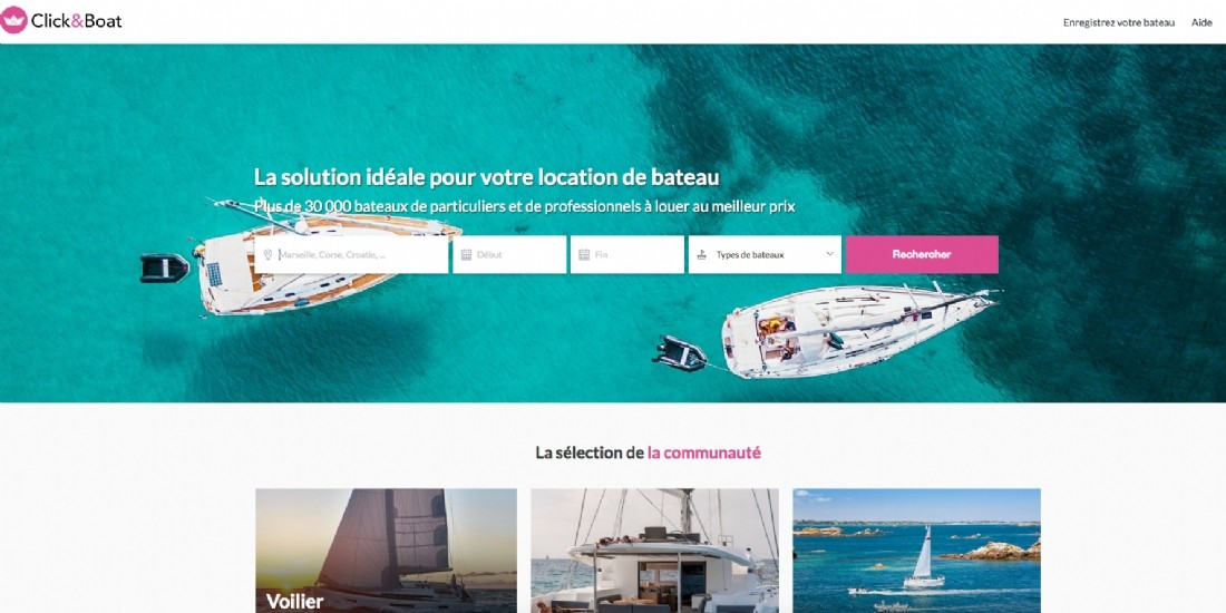Click&Boat réalise 50 millions d'euros de volume d'affaires en 2019