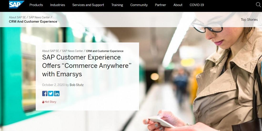 SAP rachète Emarsys, plateforme d'engagement client omnicanal