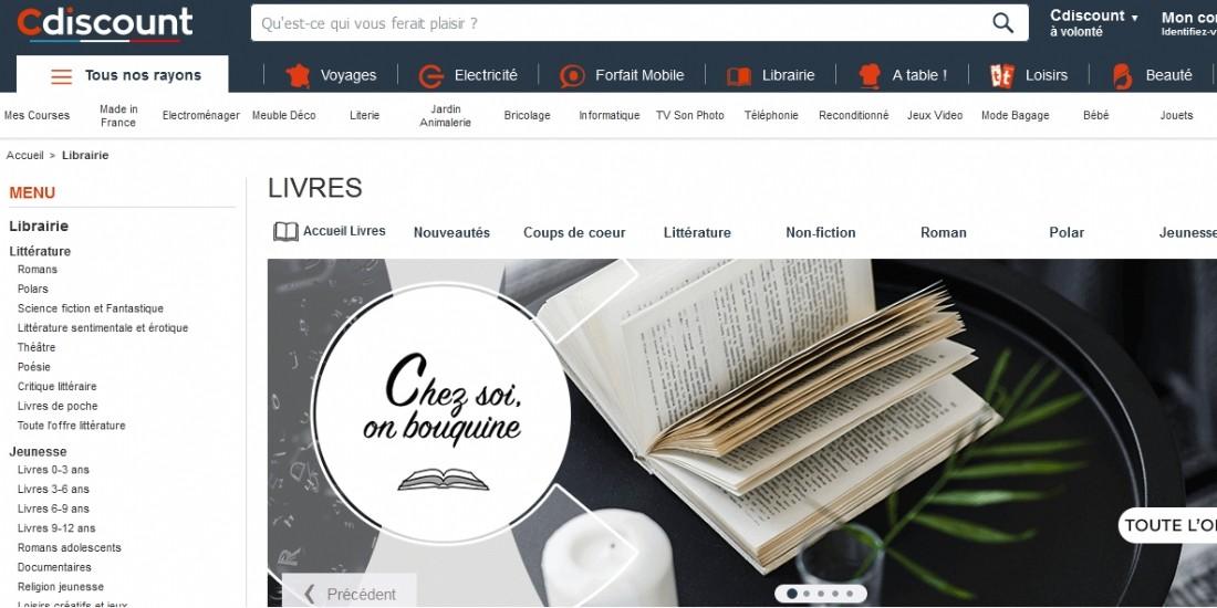 Cdiscount lance une catégorie librairie sur sa marketplace