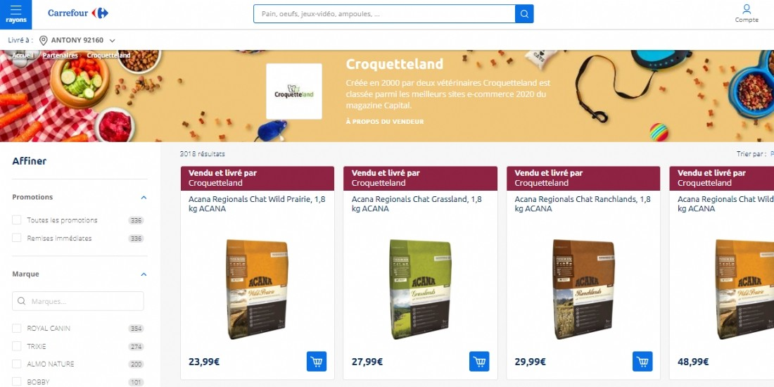 Carrefour inaugure sa marketplace alimentaire