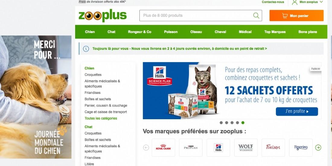 Zooplus.fr, l'animalerie en ligne la plus populaire chez les internautes français