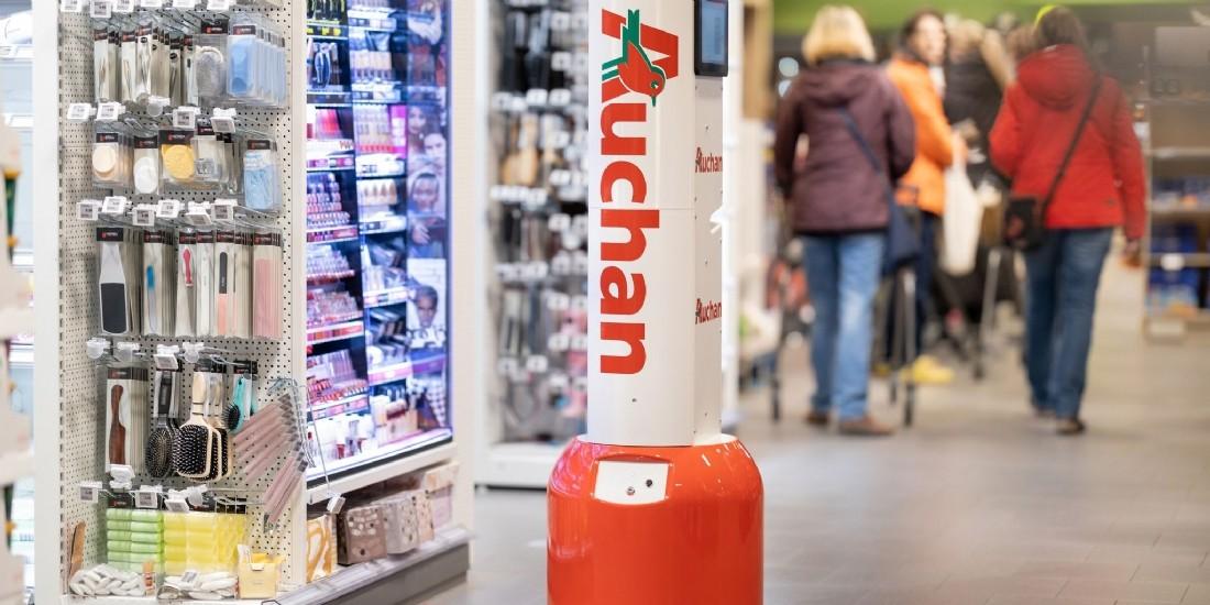 Auchan Retail introduit des robots autonomes dans ses magasins portugais