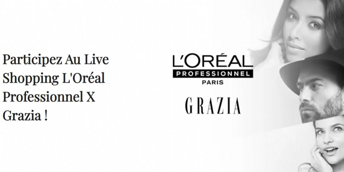 Grazia lance un dispositif de live shopping inédit avec L'Oréal Professionnel