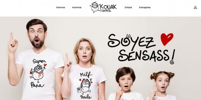 Lancement de Kouak.fr, site de vente de tee-shirt 100% bio