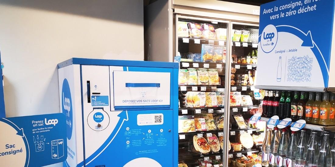 Carrefour déploie la solution de consigne Loop dans ses hypermarchés